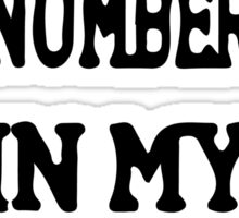 Put Your Number In My Phone iPhone 6/6s Cases Sticker