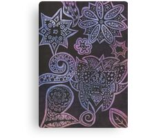 Floral Ink Canvas Print