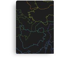 Global spectrum black Canvas Print