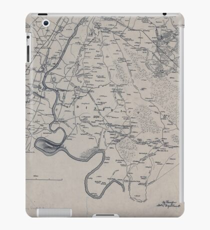 Civil War Maps 2149 Miscellaneous lithographed proof sheets of areas in Virginia field surveys compiled and printed by the Engineer Department Army of the Potomac iPad Case/Skin
