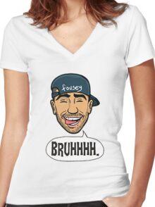 FouseyTube Merchandise Women's Fitted V-Neck T-Shirt