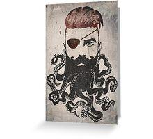 Black Beard Greeting Card