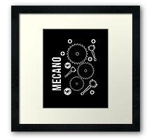 Mecano Geer Wheels Pinion Graphic Engineering sweatshirt Framed Print
