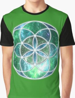 Sacred Geometry: Seed of Life - Universal Growth Graphic T-Shirt