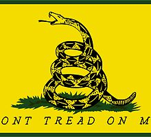Dont Tread On Me - Gadsden flag Square by Timothy Denehy