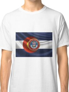 Colorado Great Seal over State Flag Classic T-Shirt