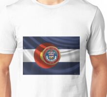 Colorado Great Seal over State Flag Unisex T-Shirt