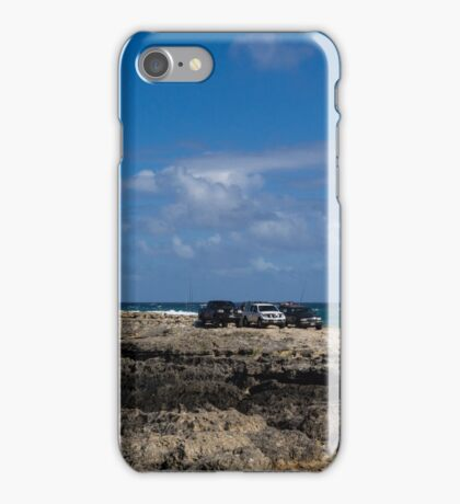 Fishing from the Lava Rocks, Hawaiian Style iPhone Case/Skin