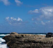 Fishing from the Lava Rocks, Hawaiian Style Sticker
