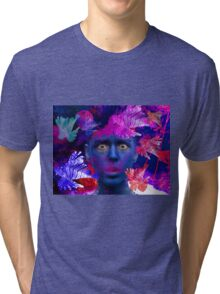 Blue Tri-blend T-Shirt
