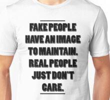"Hachiman Hikigaya - ""Fake people have an image to maintain..."" Unisex T-Shirt"