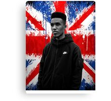 Novelist Grime Artist British Flag Canvas Print