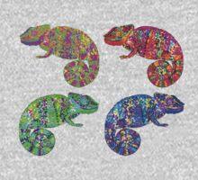Psychedelic chameleons Kids Tee