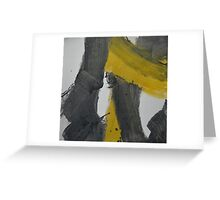 Yellow And Black Abstract 2 Greeting Card