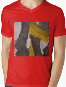 Yellow And Black Abstract 2 Mens V-Neck T-Shirt