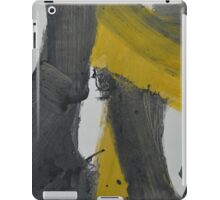 Yellow And Black Abstract 2 iPad Case/Skin