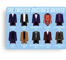 Twelfth Doctor Costume Poster Fandom Doctor Who Canvas Print