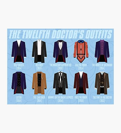 Twelfth Doctor Costume Poster Fandom Doctor Who Photographic Print