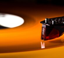 The Orange Turntable Sticker
