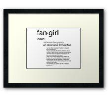 Define Fangirl - Black Framed Print