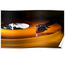 The Orange Turntable Poster