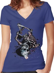 Death Memories Women's Fitted V-Neck T-Shirt