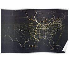 Civil War Maps 0279 Civil War 1861-1865 Poster