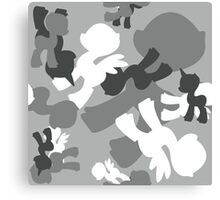 Brony Military Urban Camo Canvas Print