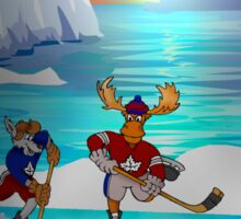 Arctic Hockey Sunset Sticker