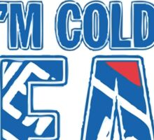 Blue and Red Til I'm Cold And Dead NYR  Sticker