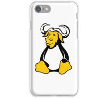 Gnu/Linux fusion logo iPhone Case/Skin