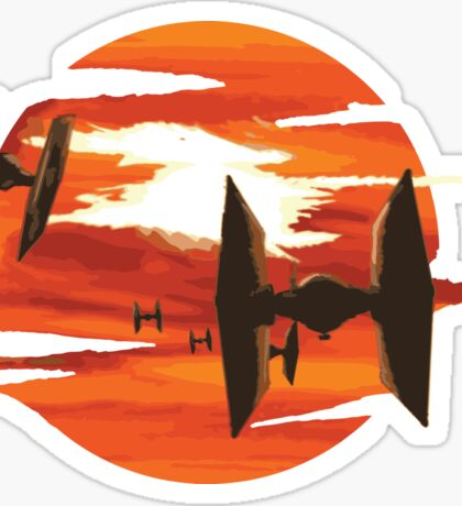 Ride of the Tie fighters Sticker