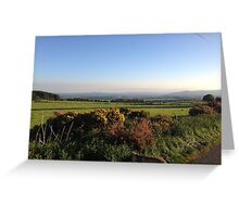 Aberdeenshire countryside... and look a dog! Greeting Card