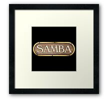 Samba Old Sign Framed Print