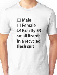 No Gender, Only Lizards Unisex T-Shirt