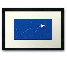 Wall-e flying EVE Framed Print