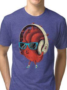 Cool Heart Design Tri-blend T-Shirt