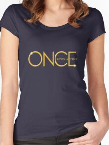 once upon a time, gold text, ouat, iphone, OUAT iphone Women's Fitted Scoop T-Shirt