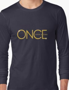 once upon a time, gold text, ouat, iphone, OUAT iphone Long Sleeve T-Shirt