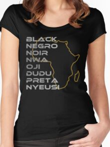 BLACK in Every Language Women's Fitted Scoop T-Shirt