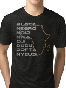 BLACK in Every Language Tri-blend T-Shirt