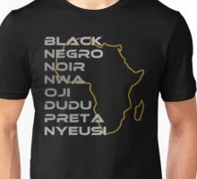 BLACK in Every Language Unisex T-Shirt