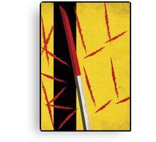 Kill Bill minimal poster Canvas Print