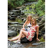Dresses in the creek  Photographic Print