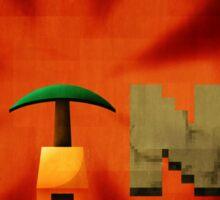 Minecraft propaganda poster Sticker