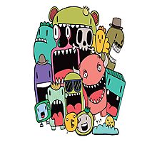 Doodle Monsters Photographic Print