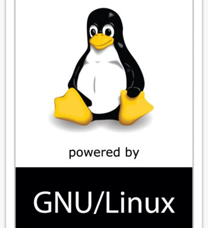 Powered by Linux Sticker