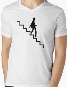 LKJ (B&W) Mens V-Neck T-Shirt