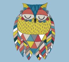 Aztec Owl Illustration Kids Tee