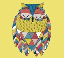 Aztec Owl Illustration Kids Tee
